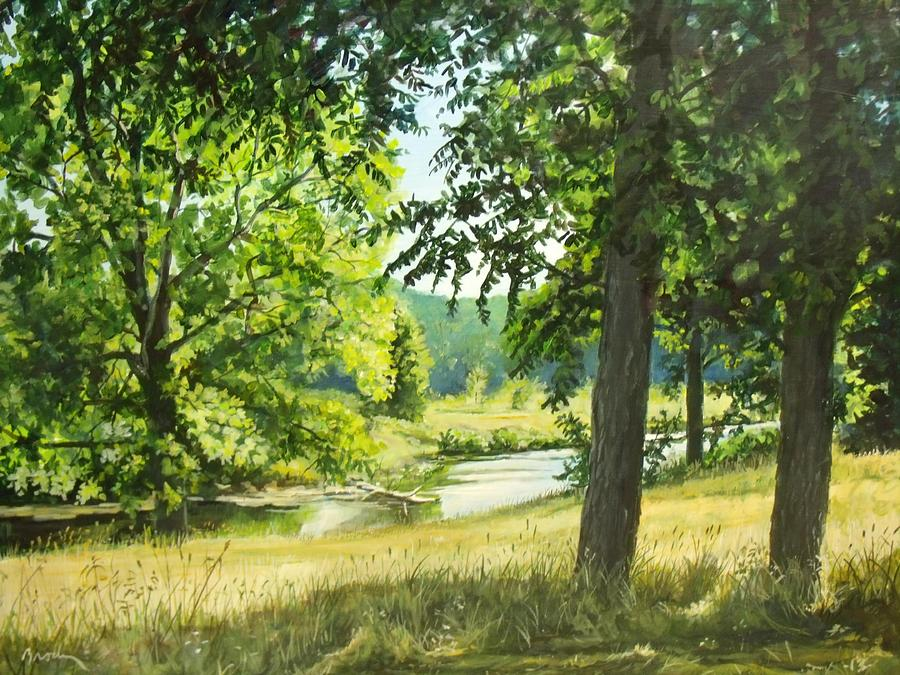 Landscape Painting - Summer Stream by William Brody