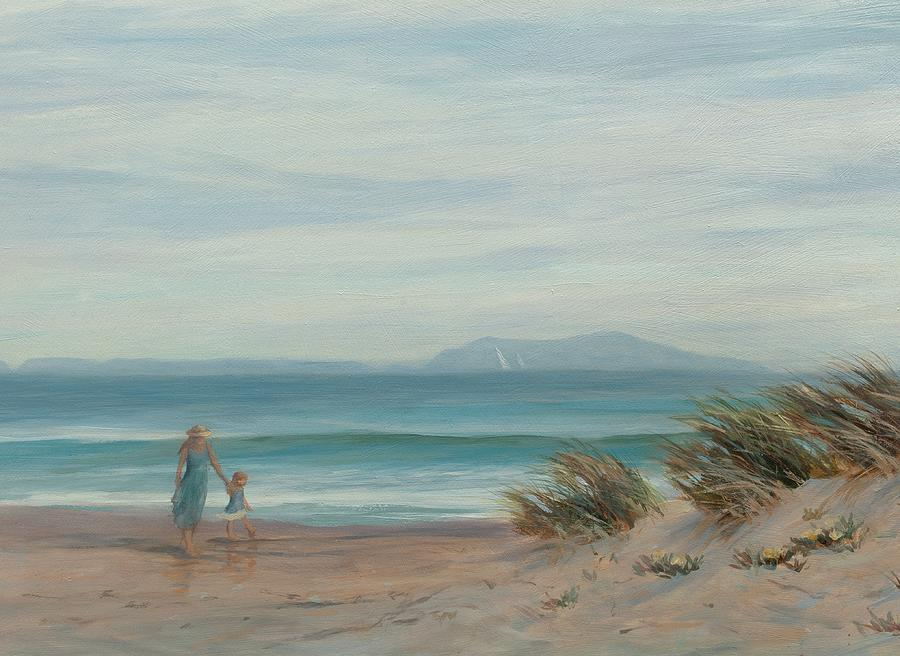 Beach Painting - Summer Stroll by Tina Obrien