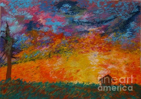 Outdoor Greeting Cards Pastel - Summer Sun by Jon Kittleson