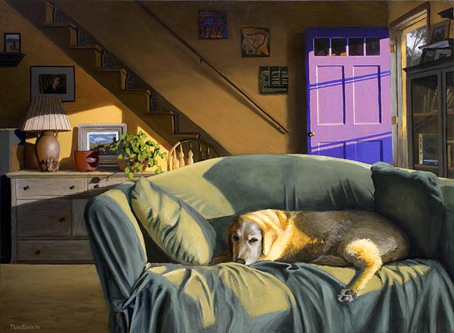 Dog Painting - Summer Sunday by Murad Sayen