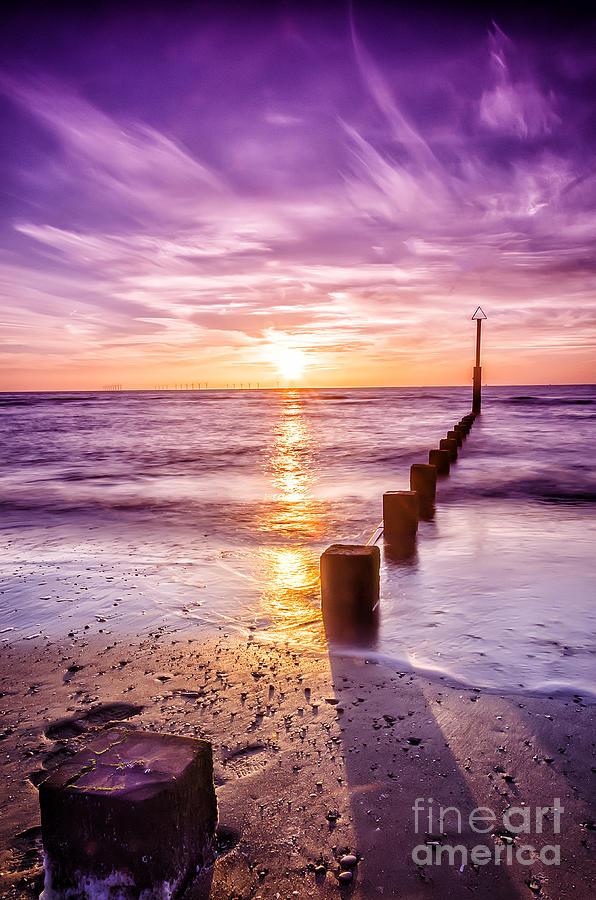 Sun Photograph - Summer Sunset by Darren Wilkes