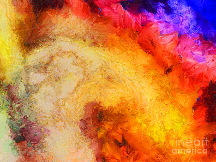 Hot Painting - Summer Swirl by Pixel Chimp