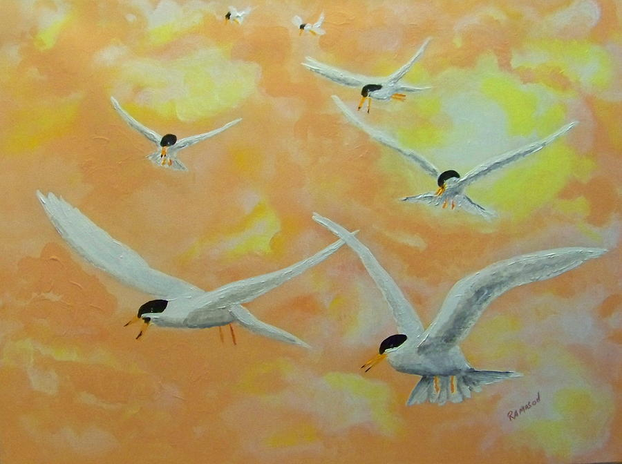 Summer Terns Painting by Rich Mason