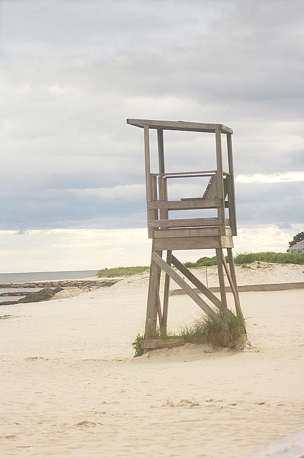 Lifeguard Chair Photograph - Summer Throne Lifeguard Chair by Suzanne Powers