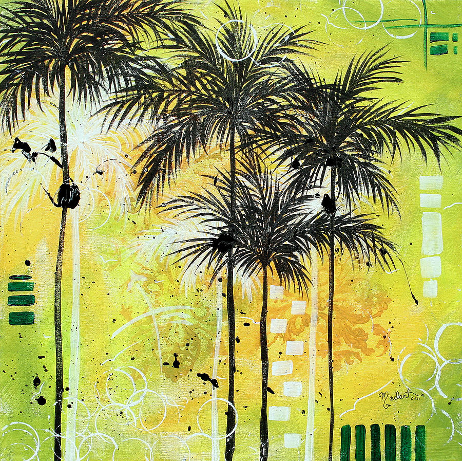 Summer Time In The Tropics By Madart Painting by Megan Duncanson