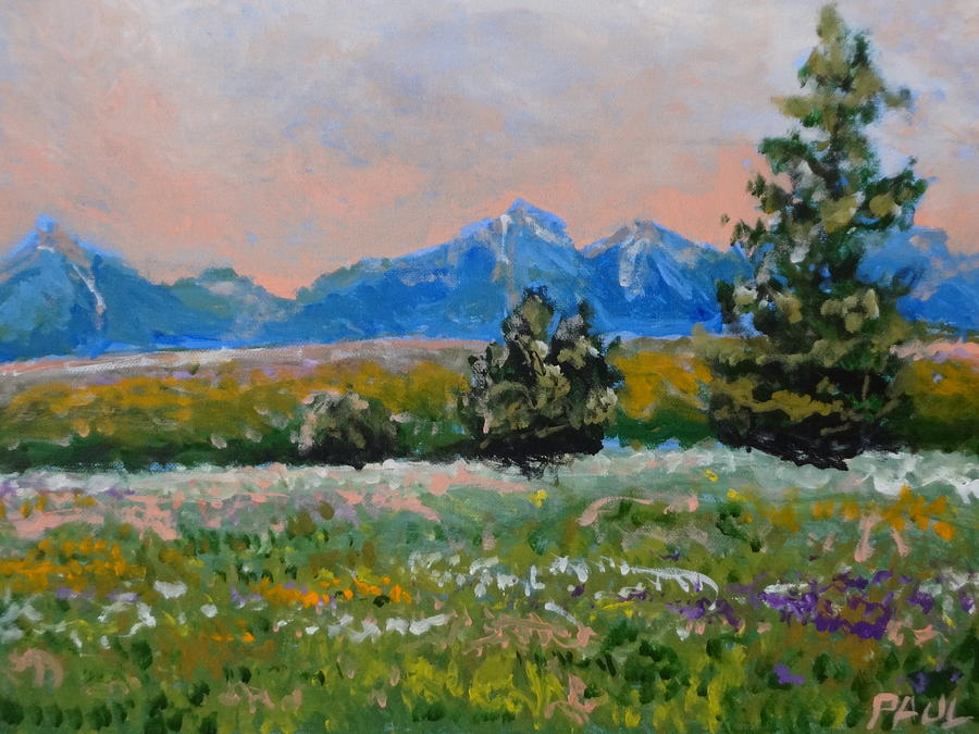 Impressionism Painting - Summer Time Sun Set by Paul Benson