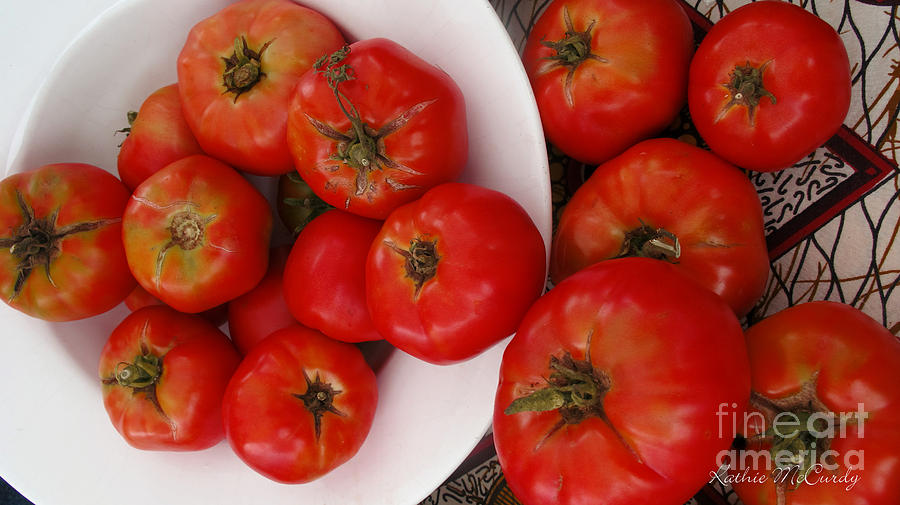 Akron Photograph - Summer Tomatoes by Kathie McCurdy