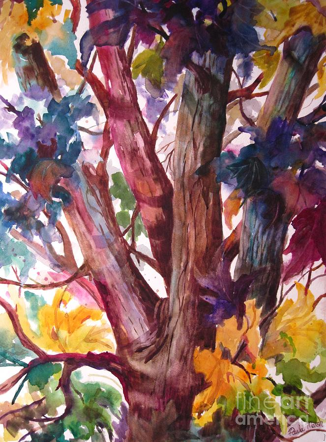 Trees Painting - Summer Tree by Paula Marsh