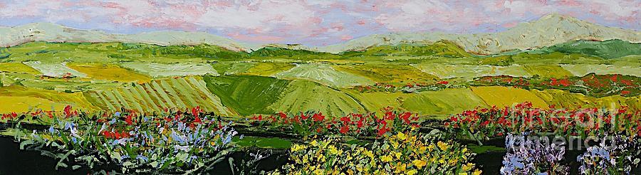 Landscape Painting - Summer Valley by Allan P Friedlander