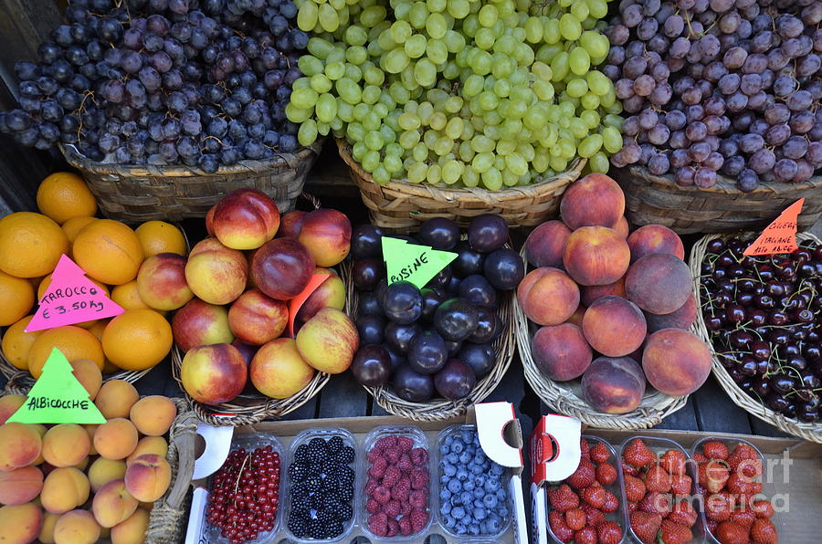 Abundance Photograph - Summer Variety Of Fruits In Italy by Sami Sarkis