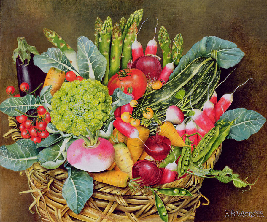 Still Life Painting - Summer Vegetables by EB Watts