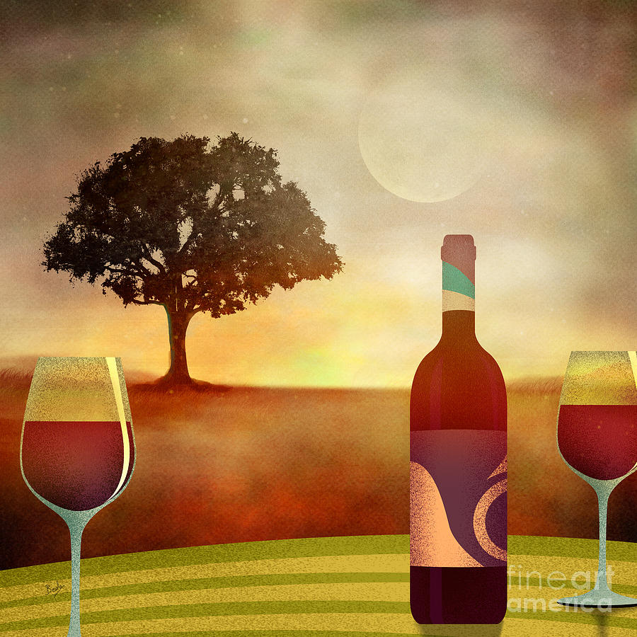 Summer Digital Art - Summer Wine by Bedros Awak