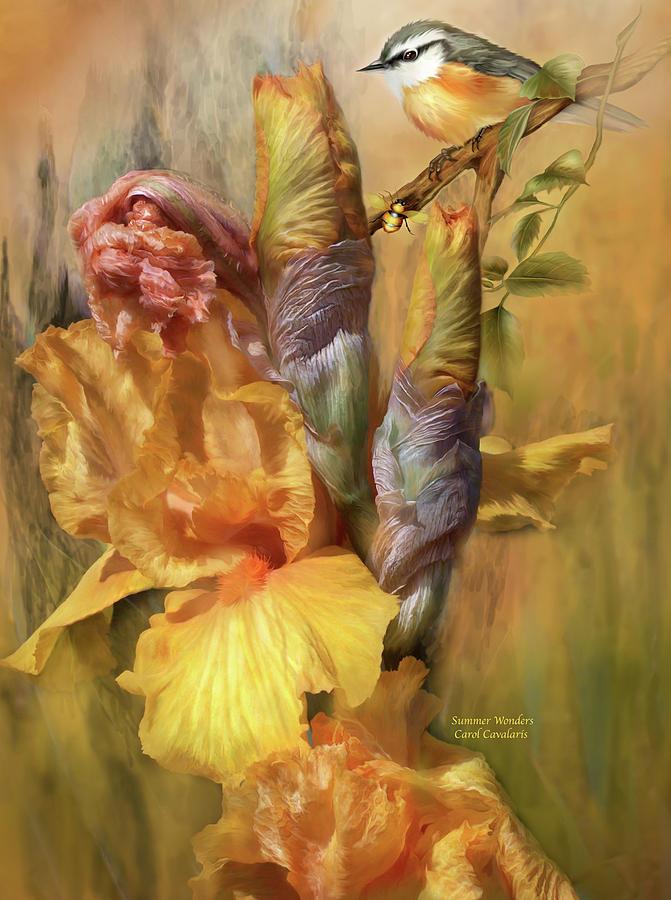 Iris Mixed Media - Summer Wonders by Carol Cavalaris