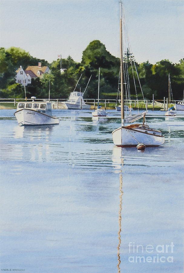 Sailboats Painting - Summers Eve by Karol Wyckoff