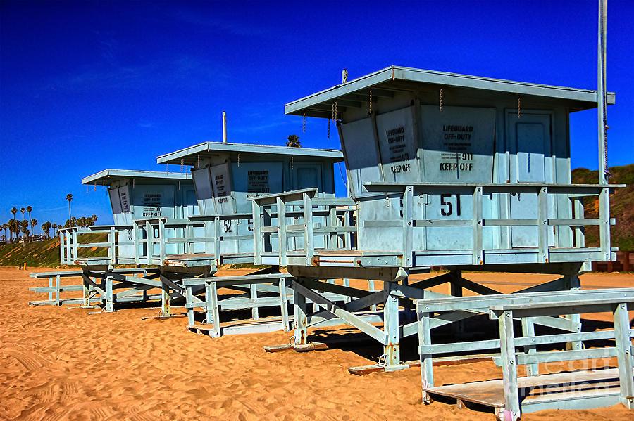 Lifeguard Tower Digital Art - Summers Sentinels 2 by David Doucot
