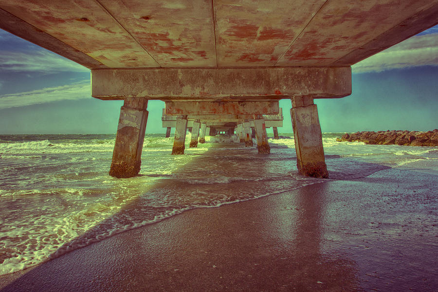 Nick Photograph - Summers Under The Pier by Nicholas Evans