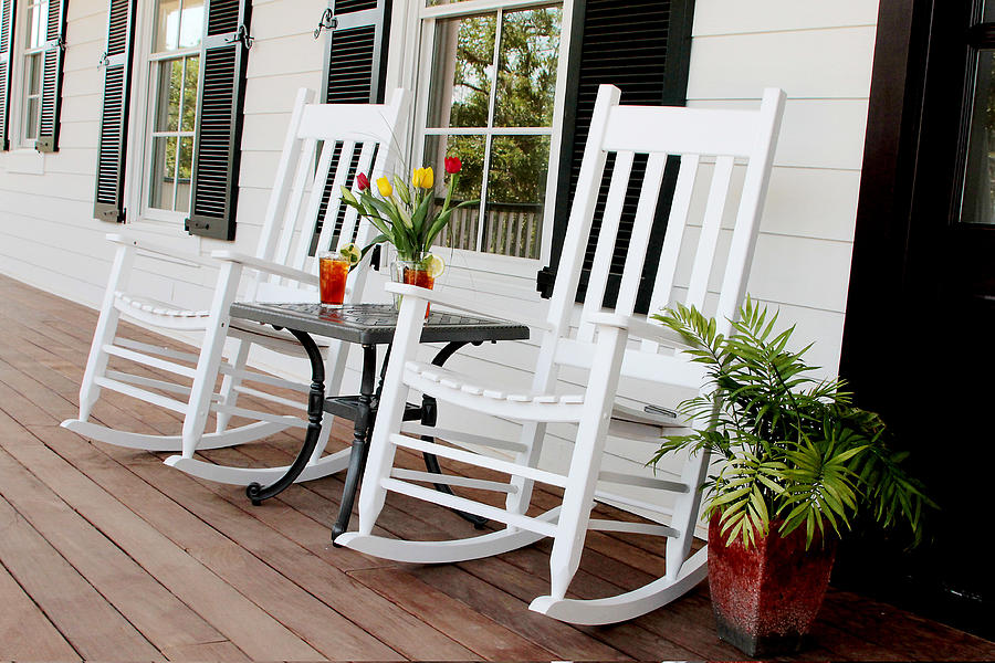 Porch Photograph - Summertime And Sweet Tea by Toni Hopper