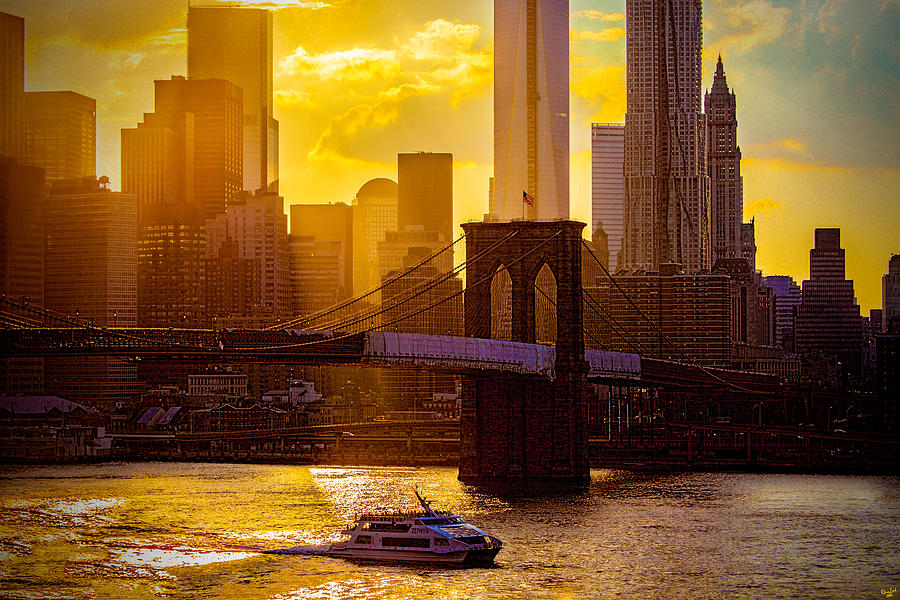 East River Photograph - Summertime At The Brooklyn Bridge by Chris Lord