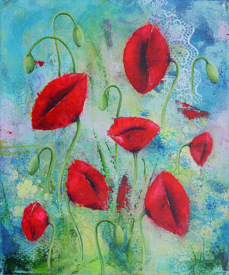 Flowers Painting - Summertime by Bitten Kari
