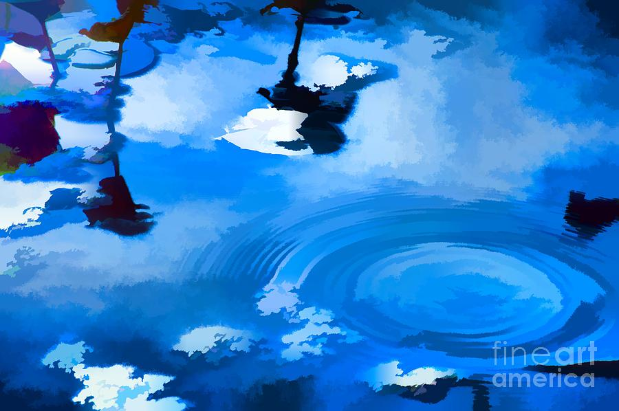 Summertime Painting - Summertime Blue by Robyn King