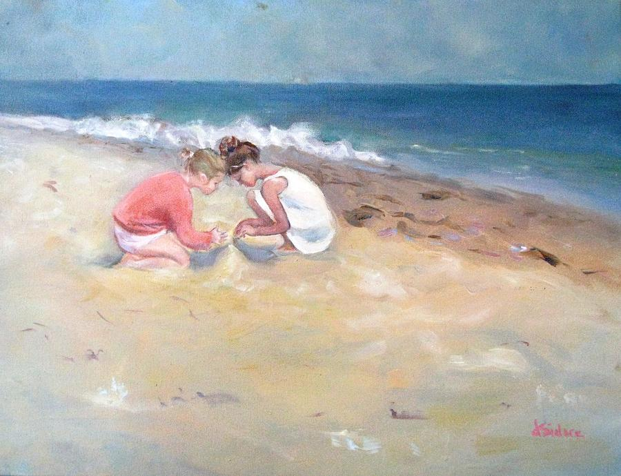 Beach Painting - Summertime by Dorothy Siclare