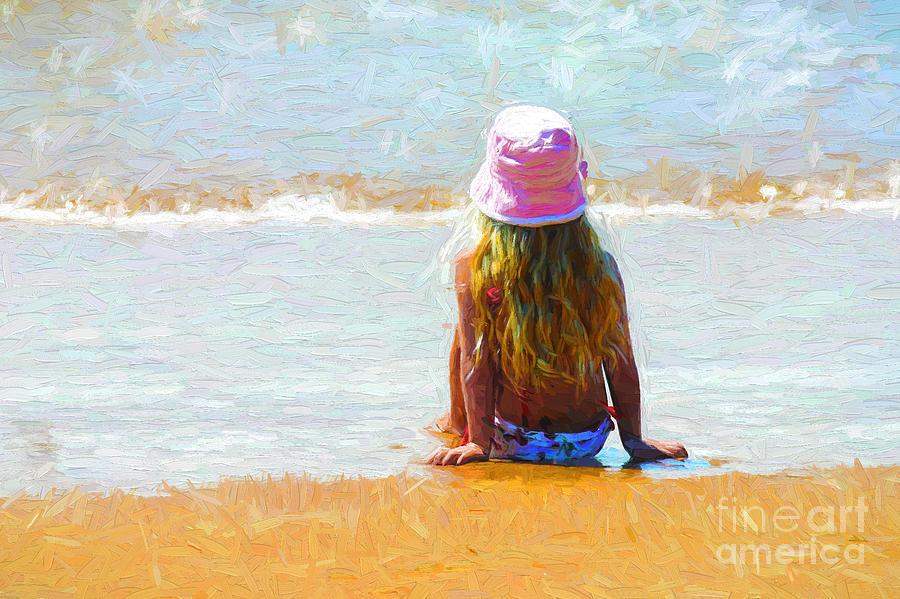 Little Girl On Beach Photograph - Summertime by Sheila Smart Fine Art Photography