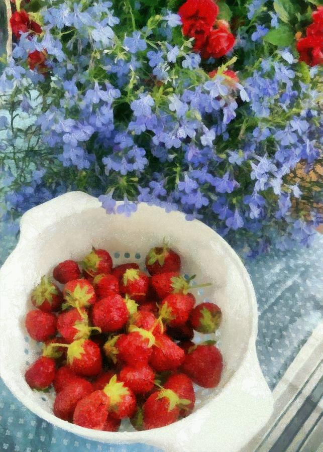 Strawberries Photograph - Summertime Table by Michelle Calkins