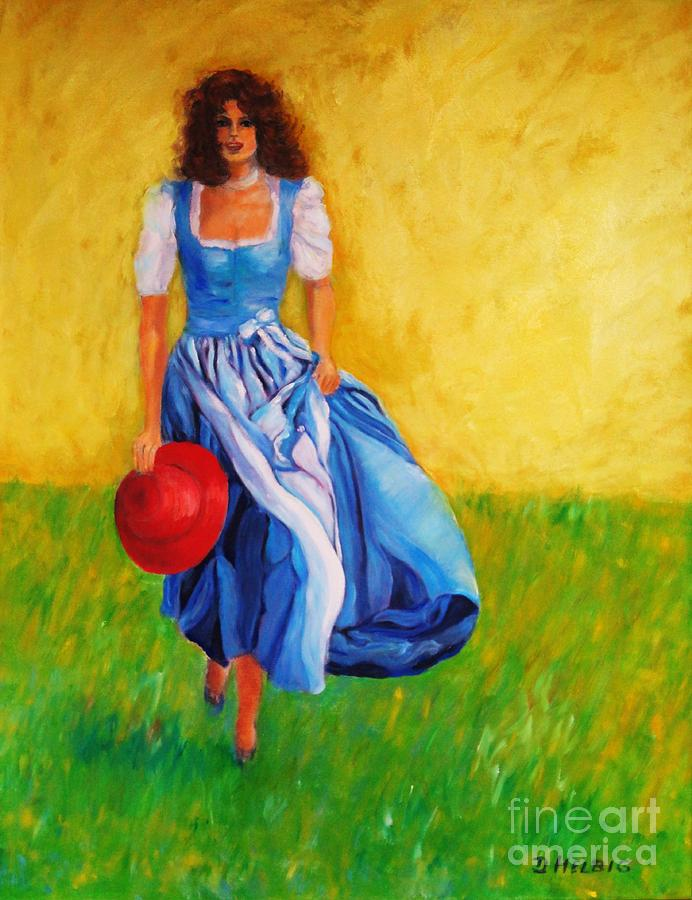 Blue Painting - Summerwind by Dagmar Helbig