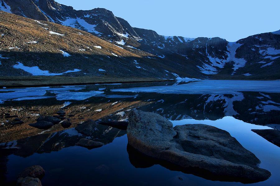 Mt. Evans Photograph - Summit Lake Calm by Jim Garrison
