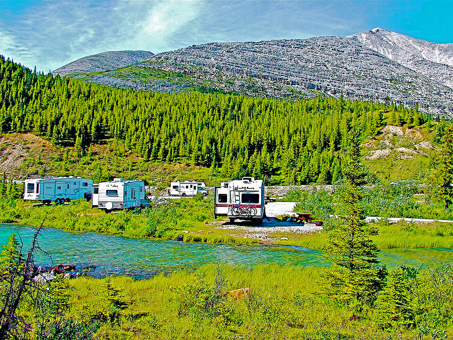 Summit Lake Campground In Stone Mountain Provincial Park ...