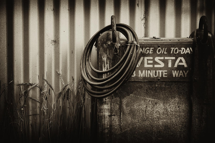 Oil Photograph - Sump by Tim Nichols