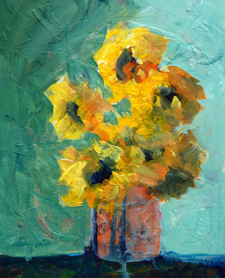Abstract Painting - Sun And Shadow by Nancy Merkle
