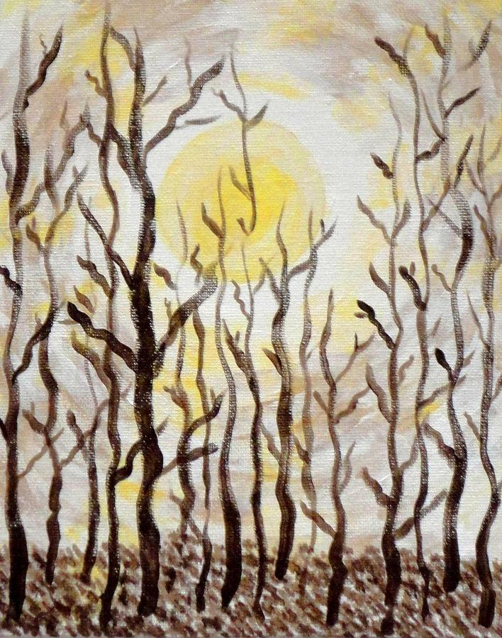 Sunlight Painting - Sun And Trees by Valerie Howell
