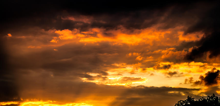 Storm Clouds Photograph - Sun Beams And Clouds by Optical Playground By MP Ray