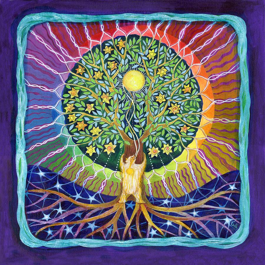 SUN BEAR STAR TREE by FAITH NOLTON