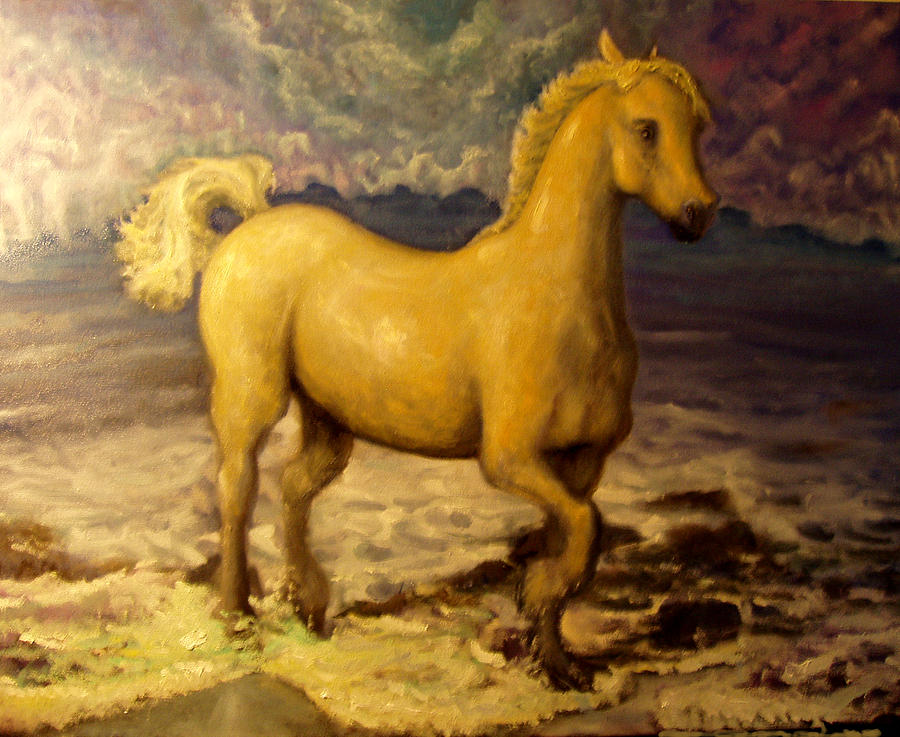 Horse Painting - Sun Blessed Horse by Graham Keith