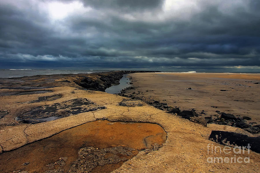 Storm Photograph - Sun Breaking Through by Geoff Crego