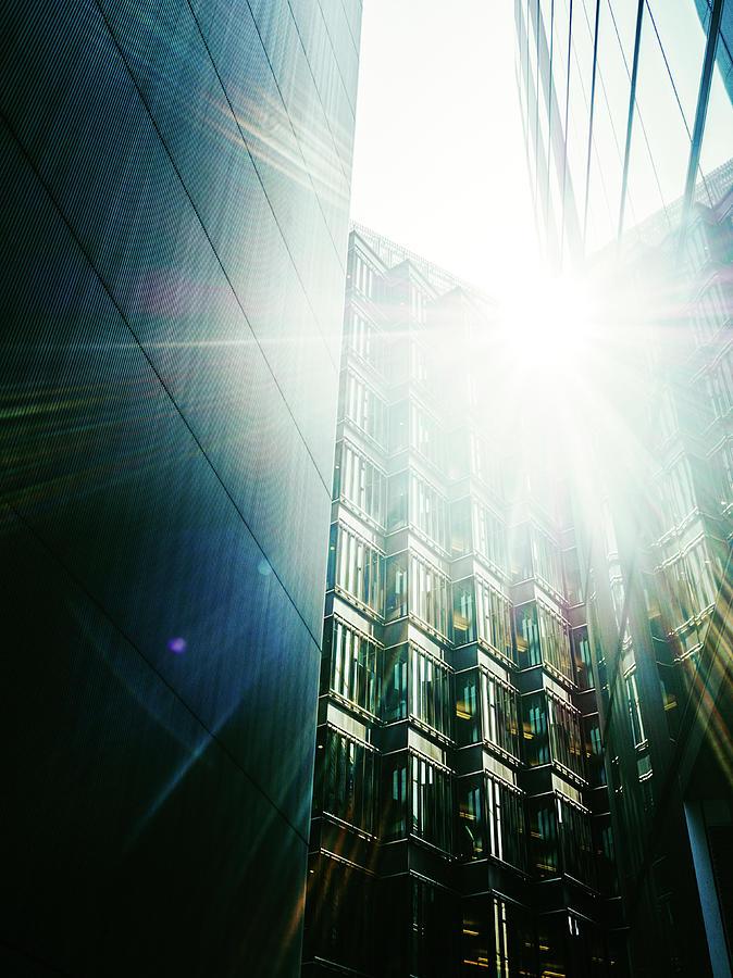 Sun Bursting Through Modern Office Photograph by Doug Armand