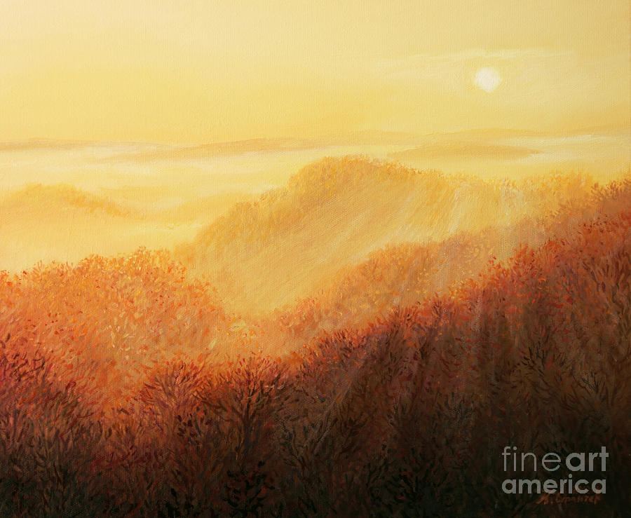 Fog Painting - Sun Caress by Kiril Stanchev
