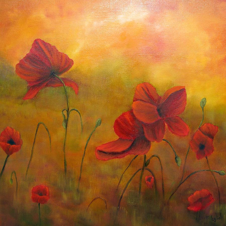 Poppies Painting - Sun Dancers by Loretta Luglio
