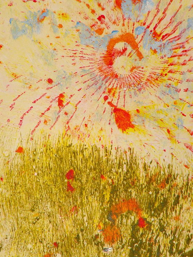 Sun Rise Painting - Sun Eight by Valerie Lynch