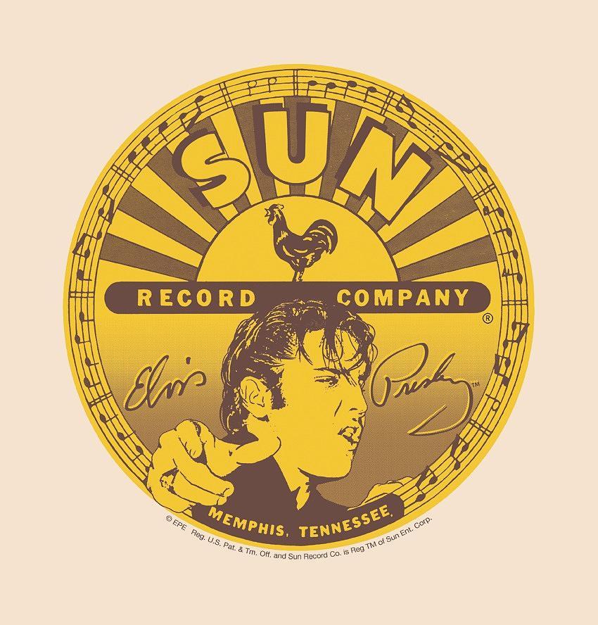 Sun Record Company Digital Art - Sun - Elvis Full Sun Label by Brand A