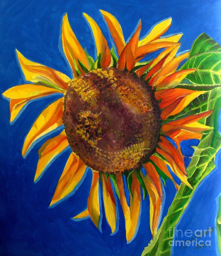 Sunflower Painting - Sun Flower by Grace Liberator