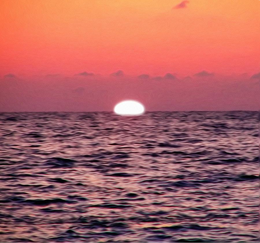 Gulf Photograph - Sun Going Down by Bill Cannon