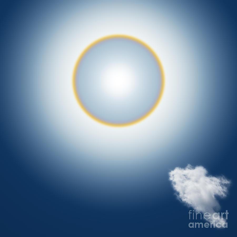 Around Mixed Media - Sun Halo by Atiketta Sangasaeng