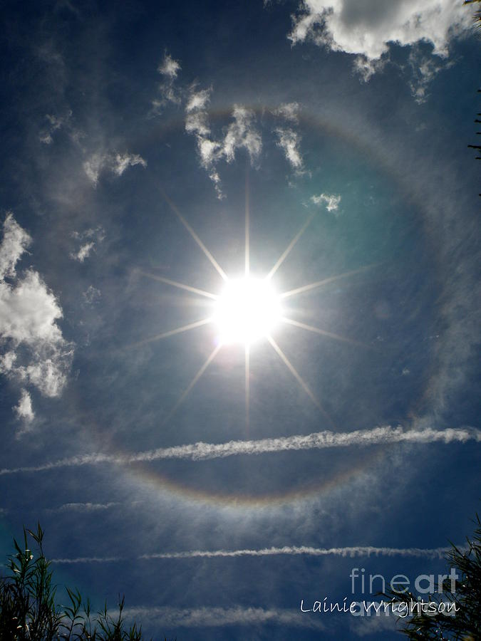 Sun Photograph - Sun Halo by Lainie Wrightson