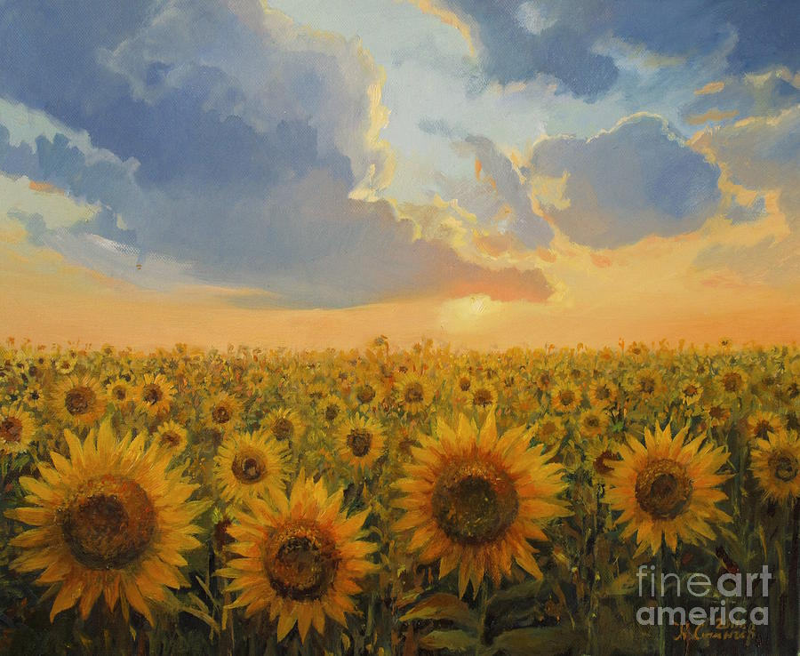 Agricultural Painting - Sun Harmony by Kiril Stanchev