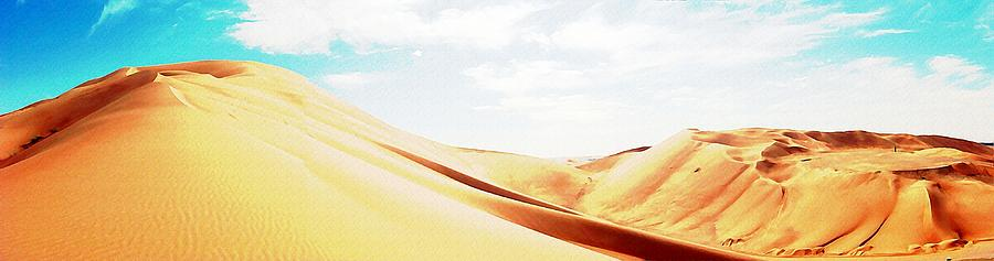 Desertscape Digital Art - Sun In The Sands by Peter Waters