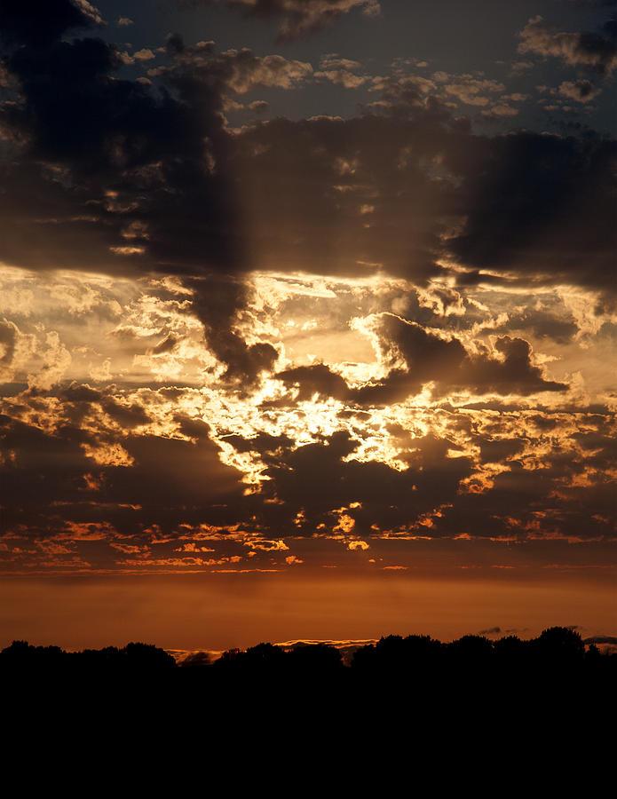 Sunset Photograph - Sun Mosaic Vert. by Torrey E Smith