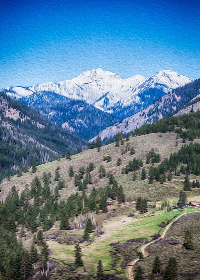 Sun Mountain View Of Mt Gardner In Springtime Photograph by Omaste Witkowski